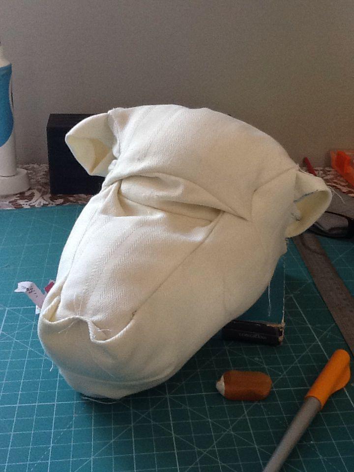 Baboon head fold in progress