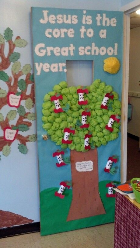 13 best images about bulletin board sept on pinterest for Apple tree classroom decoration