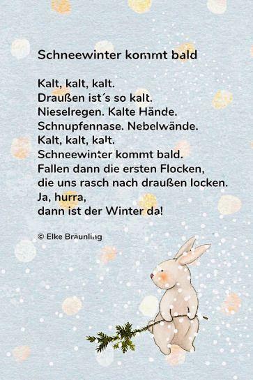 Schneewinter kommt bald | Winterzeit | Wintergedichte ...