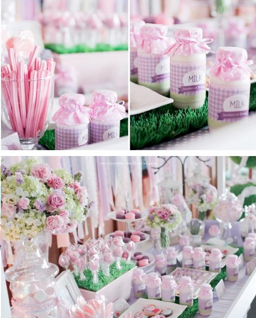 Amazing colour scheeme and display ideas Sweet Shoppe + Peppa Pig Birthday Party via www.KarasPartyIdeas.com