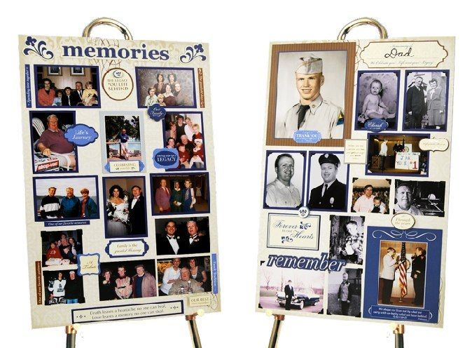 These NEW memory boards are a combo of scrapbooking and memorial boards. Everything you need is in the kit. $59 (includes 2 boards)
