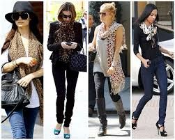 leopard print scarves outfits - Google Search