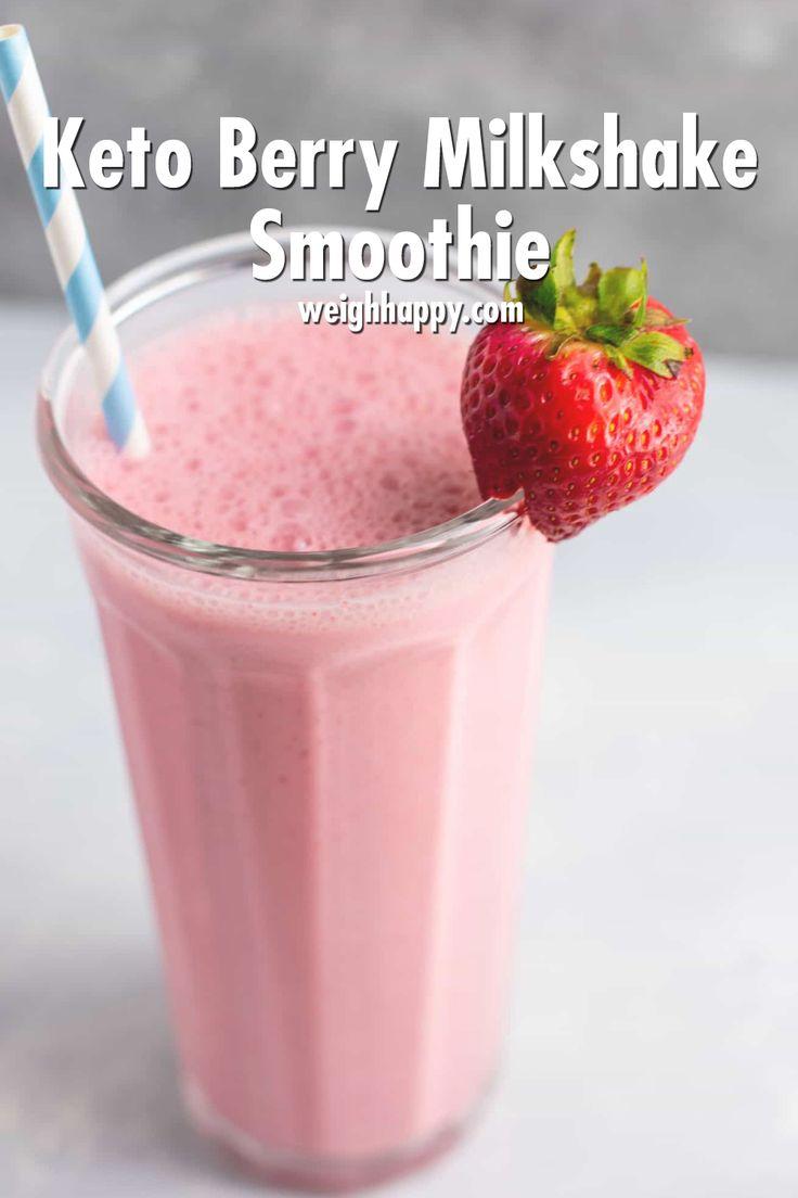 Keto Berry Milkshake Smoothie