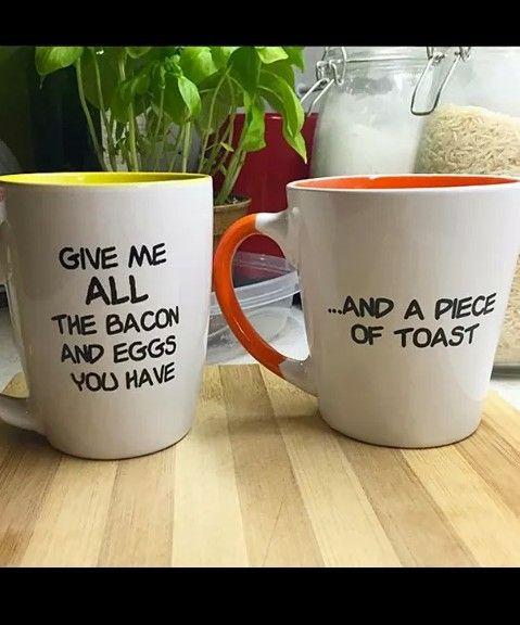 Text mugs $35 USD