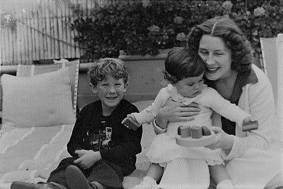 It's Norma! with her children, Irving Jr. & Katherine