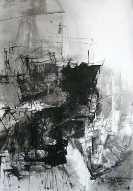"Saatchi Online Artist Dorota Jedrusik; Drawing, """"ahead of time 02"""" #art"