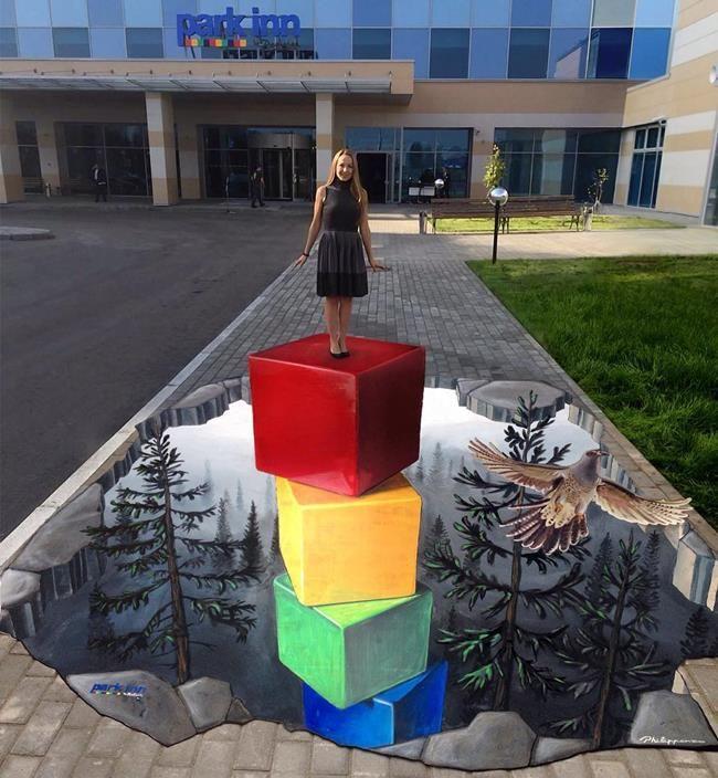 Philip Penzo'dan Gerçekliğe Meydan Okuyan 3D Sokak Sanatı Örnekleri Sanatlı Bi Blog 36