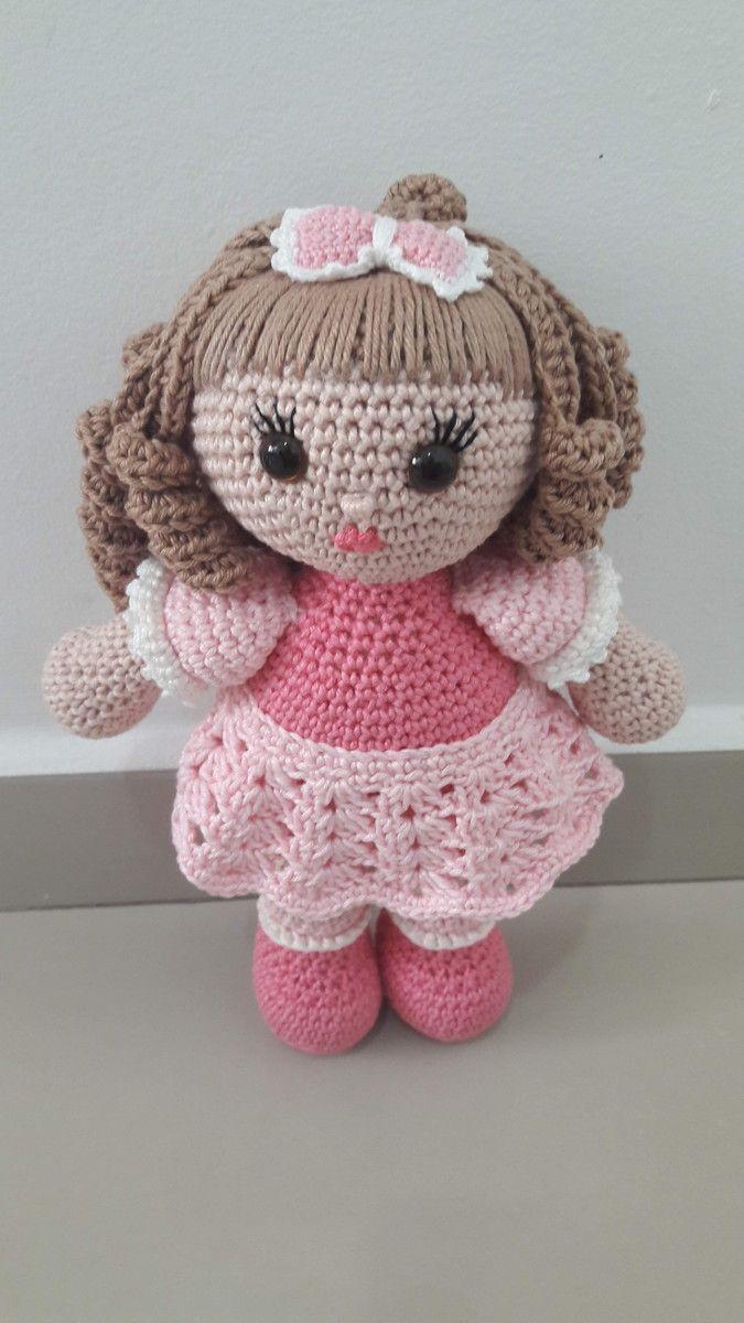 Amigurumi Crochê - Boneca de Pano Brisa - 100% algodão (com ... | 1200x675