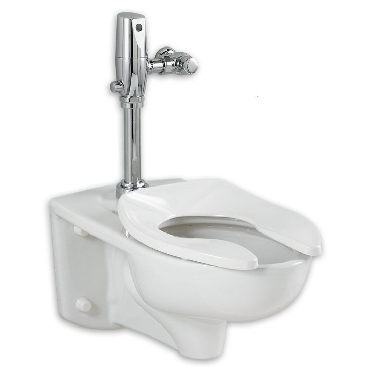 Afwall Everclean 1 28 Gpf Elongated One Piece Toilet Seat Not Included Wall Hung Toilet Wall Mounted Toilet American Standard