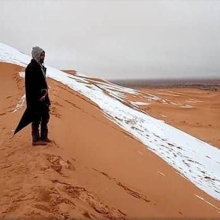 """O Deserto do Saara ficou coberto por neve pela 1ª vez em 37 anos e o fenômeno deixou os moradores surpresos  De acordo com a agência de notícias Reuters a neve cobriu partes das encostas de areia mas derreteu conforme as temperaturas subiram ao longo do dia - já que o Saara é o deserto mais quente do mundo.  A notícia do @portalr7 me lembrou outra que li há alguns dias. """"O planeta Terra pode entrar em uma pequena Era Glacial a partir de 2030 segundo cientistas do Reino Unido. Atualmente os…"""