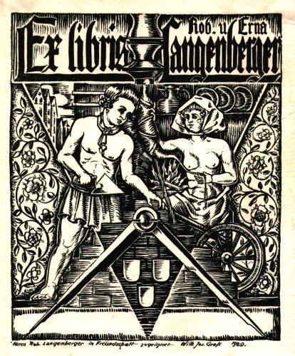 A Collection of Masonic Bookplates or Ex-Libris by Brother Jens Rusch