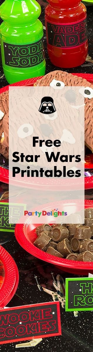 Download our free printables for a Star Wars party that's out of this world!: