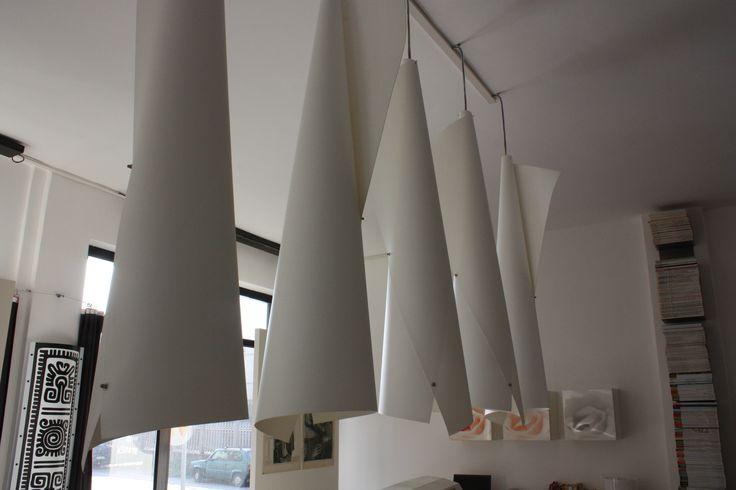 Area progettazione. Lampade progettate de Marcello Gennari, modello Blanca Cono di Luce. www.marcellogennari.it