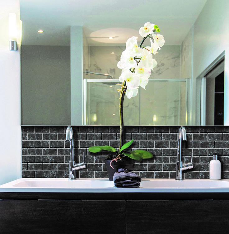 Subway Marbella Peel And Stick Smart Tiles Especially Designed For Kitchen And Bathroom Environments