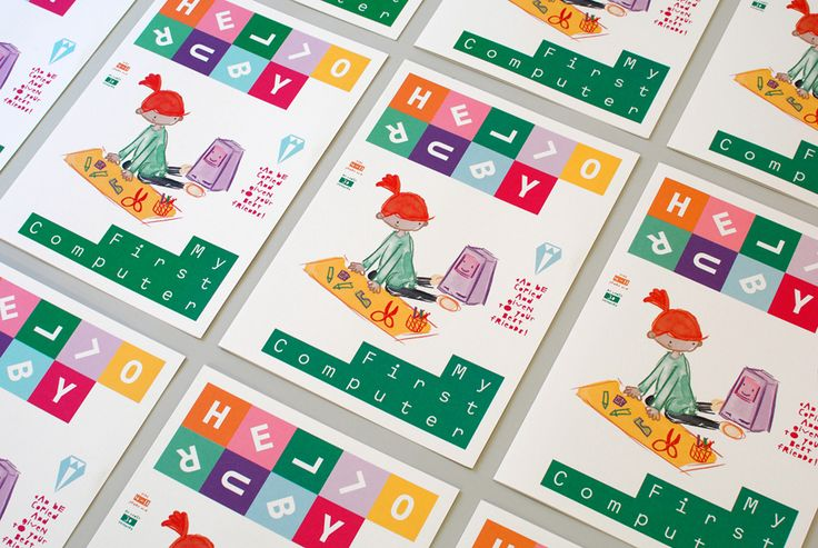 Visual identity and print by graphic design studio Kokoro & Moi for popular children's computing brand Hello Ruby