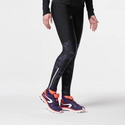 RUNNING Trail Running, Trail, Athlétisme - COLLANT TRAIL F GRAPH. NOIR KALENJI - Textile running