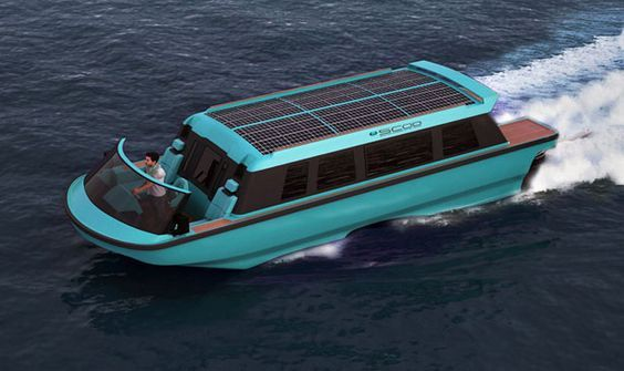 A limo tender, Swath Electra Glid Megayacht Tender is introduced as the world's first Carbon Neutral Solar Hybrid Megayacht Tender.
