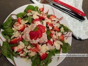 snijbiet salade met aardbei