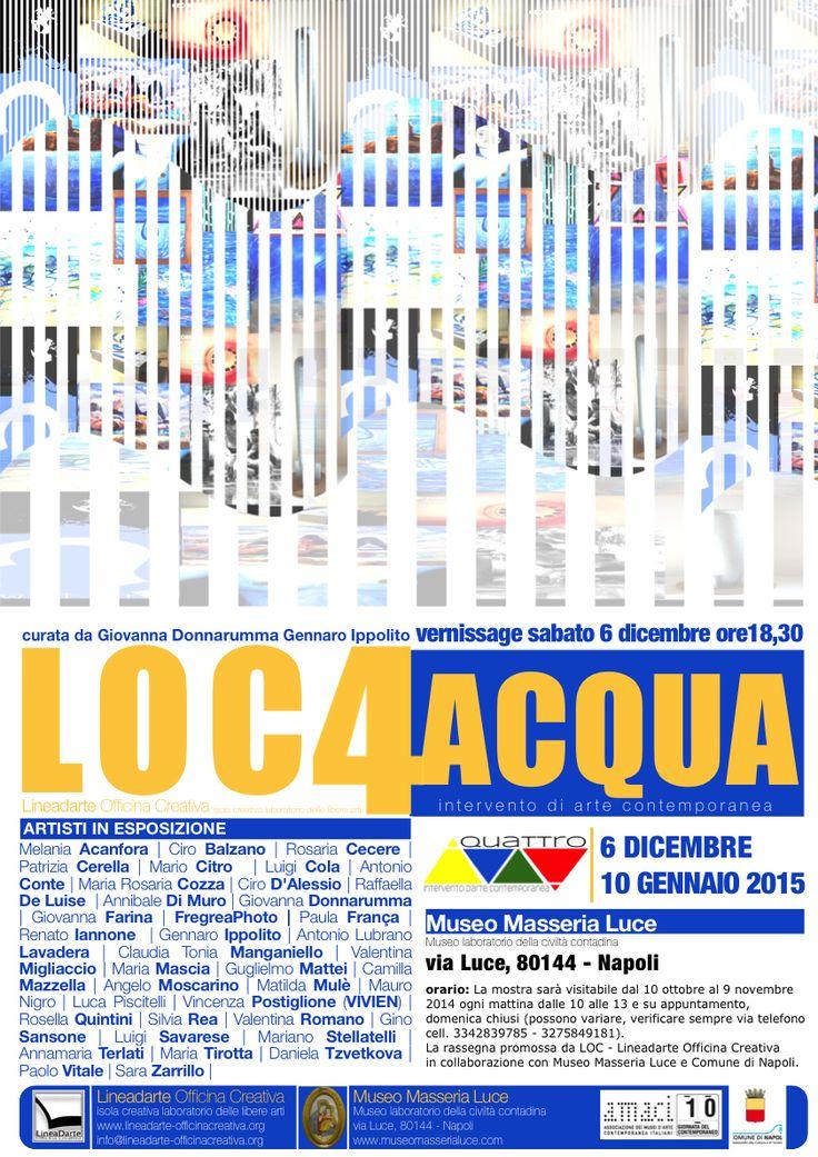 Sabato 6 dicembre alle 18.30 presso il Museo Masseria Luce, Museo della civiltà contadina della città di Napoli, nell'ambito del progetto QUATTRO inaugurerà il secondo intervento d'arte contemporan...