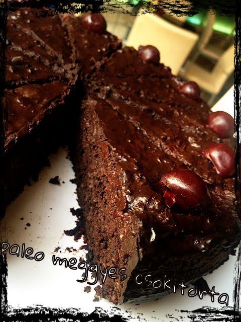 Praktikák sok gyerekhez: Paleo meggyes csokitorta