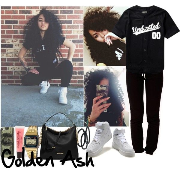 Underated 00 Drug Money Air Force 1's, created by fashionsetstyler on Polyvore