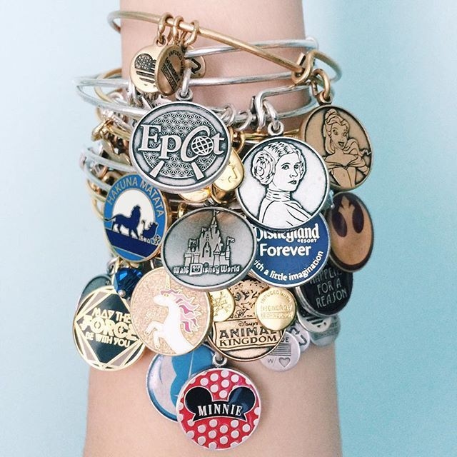 ALEX AND ANI Disney Expandable Charm Bangles | Available at the theme parks and disneystore.com