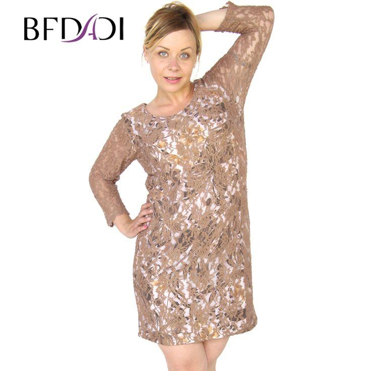 Купить товарBFDADI Осеннее и зимное платье 2016 новые сексуальные женские кружевном платья длинные рукава шить тонкие платья большого размера 5xl свободного покроя платье 3341   9 в категории Платьяна AliExpress. BFDADI Осеннее и зимное платье 2016 новые сексуальные женские кружевном платья длинные рукава шить тонкие платья большого размера 5xl свободного покроя платье 3341 - 9