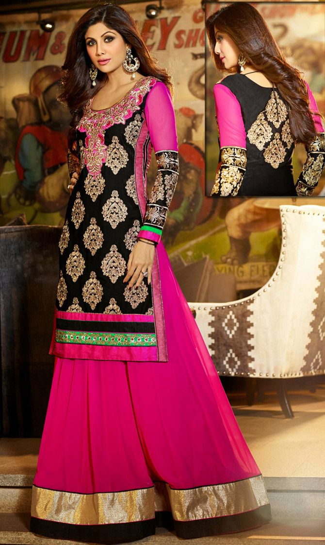Pink Faux Georgette #Pakistani #Salwar #Kameez | @ $119.27