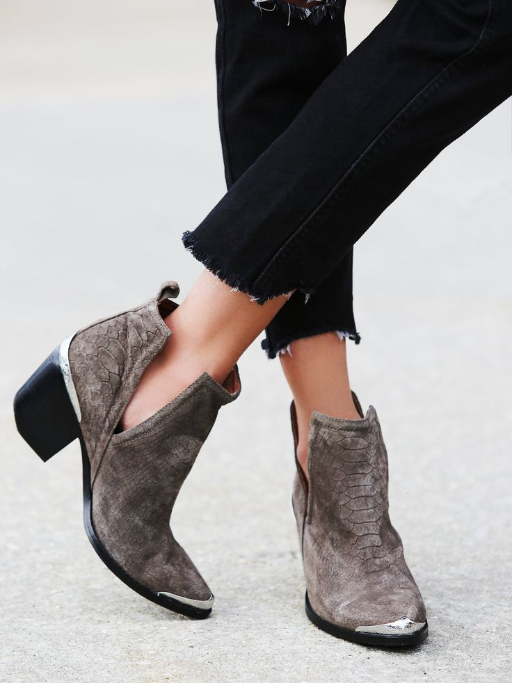 Hunt The Plains Boot | Suede ankle boots with a western-inspired design,  etched