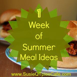 One Week of Summer Meal Ideas and Food link Party from @SusieQTpies Cafe