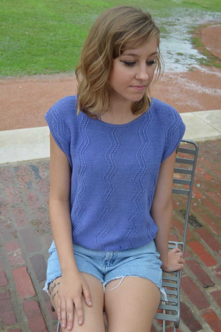 Women's Purple Shirt, Periwinkle Shirt, Size Small, Vintage Sleeveless Sweater, Ladies' Shirt, 80's Shirt, Russ Tank Top, Blue Shirt, Gift by exquisitEXCHANGE on Etsy