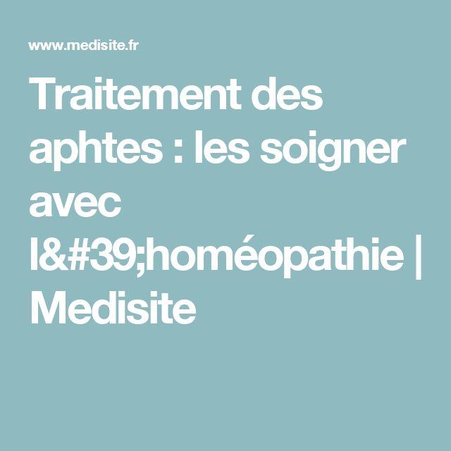 Traitement des aphtes : les soigner avec l'homéopathie   Medisite
