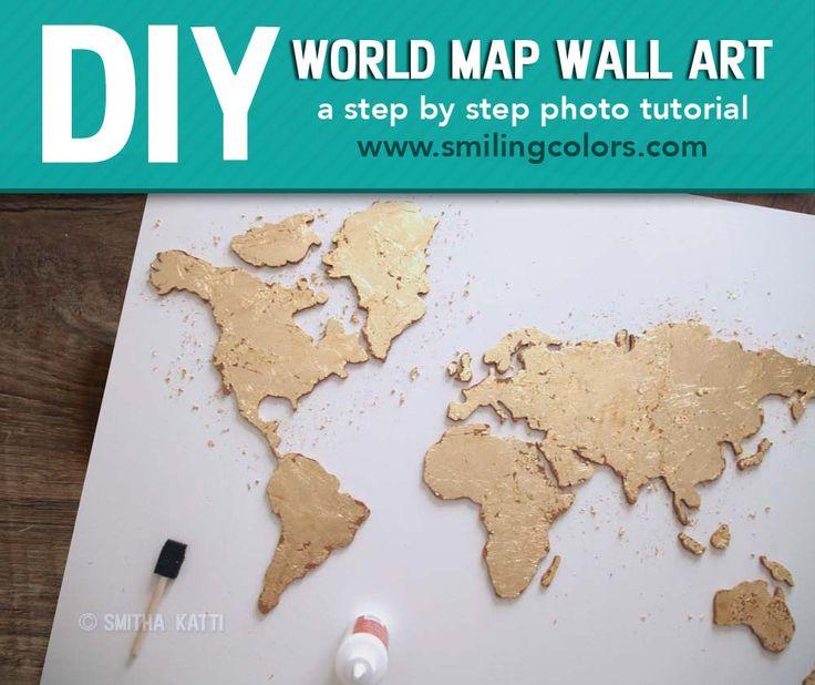 Best 20+ Map wall art ideas on Pinterest | World map wall, Map ...