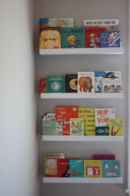DIY Picture/Book Ledge - May be the perfect solution for part of that awkwardly long wall in the guest room.