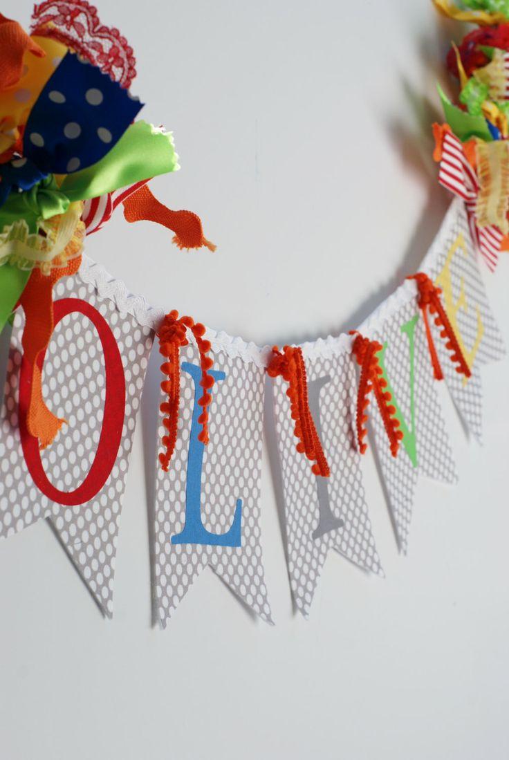 Gender Neutral RAINBOW Baby Name Banner for by SweetGeorgiaSweet, $35.00