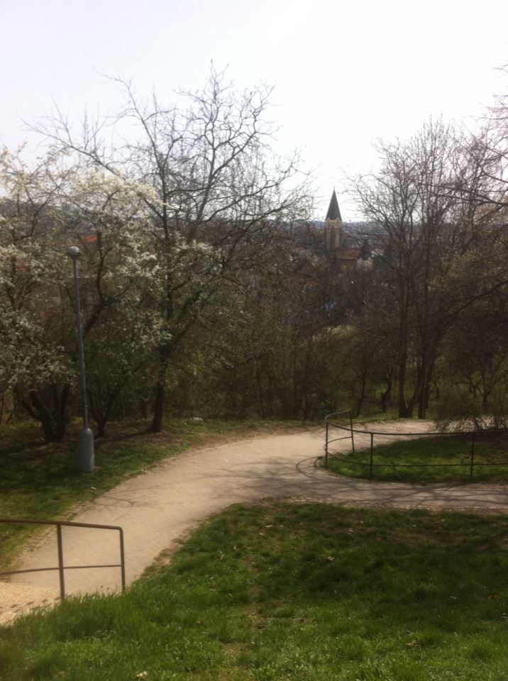 Husovice Church, sighted from Marie Restituta´s park -explore more with FreeLiver.eu ! -