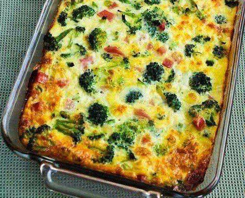 Диетический завтрак - запеканка с брокколи и моцареллой. Ингредиенты:- брокколи – 300 г;- яйца куриные – 4-5 шт.;- молоко – 100 мл;- петрушка – 2-3 веточки- моцарелла – 100 г;- оливковое масло – 3 г (только для смазывания формы);- соль (желательно взять м…