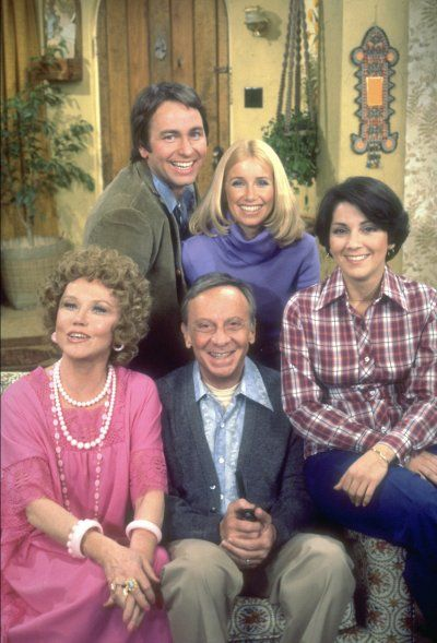 Three's Company is an American sitcom that aired from March 15, 1977, to September 18, 1984, original cast...Starring	John Ritter  Joyce DeWitt  Suzanne Somers  Norman Fell  Audra Lindley