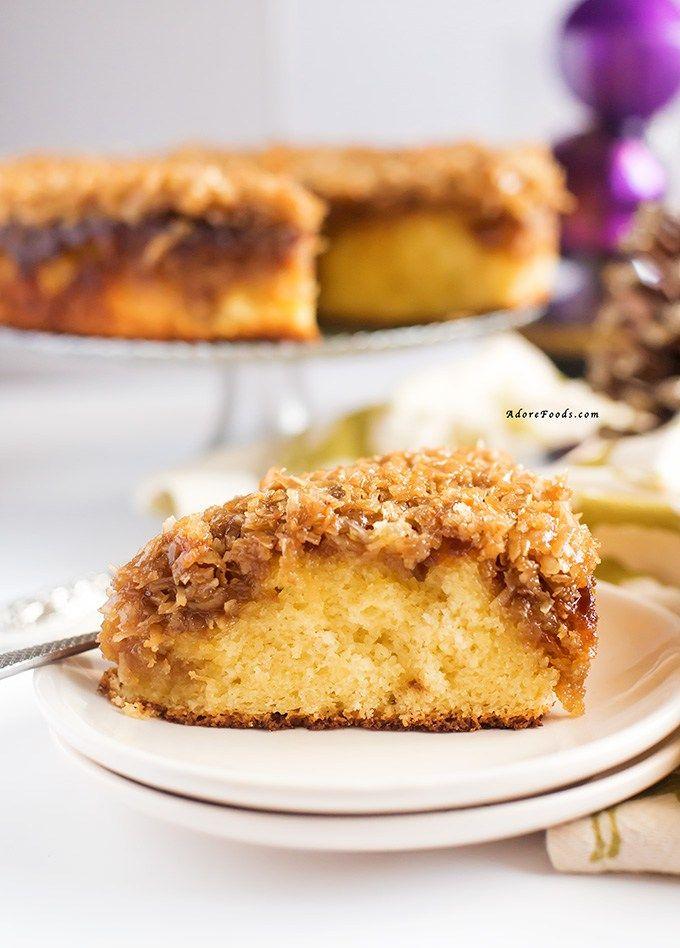 Danish Dream Cake (Drømmekage) Christmas dessert