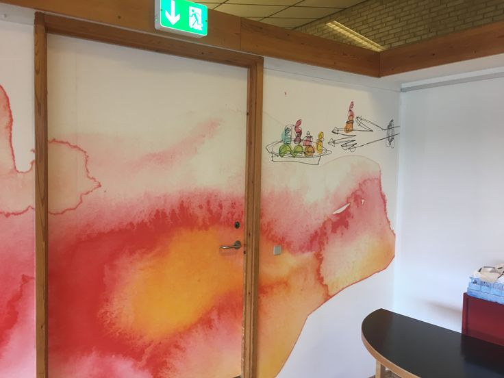 Wall illustration by Mette Bager