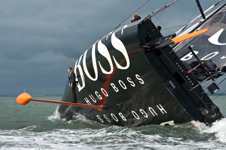 In this seemingly implausible photo we see Alex Thomson performing what he calls the 'keel walk', a stunt that has become infamous in the sailing world thanks to this photograph. As his 8-tonne carbon fibre yacht, Hugo Boss, sails on edge, Alex pulls up in a 255-horsepower ski jet and leaps onto the keel of the boat. Be sure to check out the embedded video below for proof of this epic feat. Alex Thomson, the Sifter salutes you.