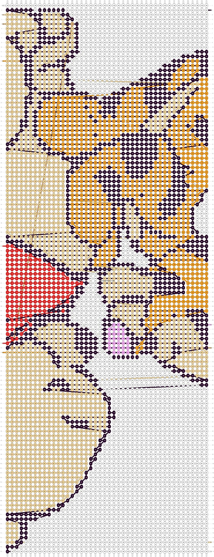 Winnie the pooh friendship bracelet pattern number 11417 - For more patterns and tutorials visit our web or the app!