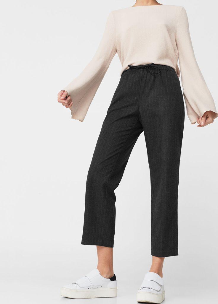 Pantalon taille élastique -  Femme | MANGO France