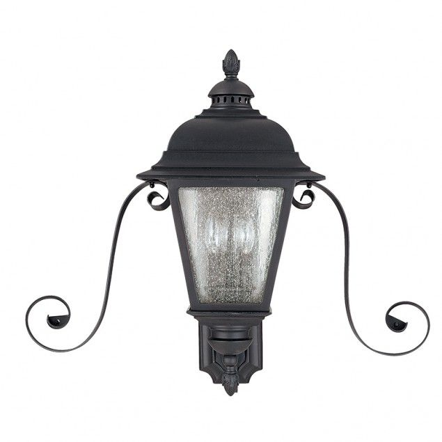 3 Light Outdoor Lantern with Scrolls