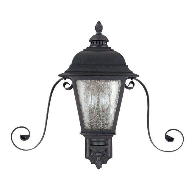 3 Light Outdoor Lantern with Scrolls