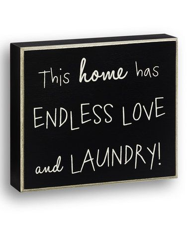 This Black 'This Home' Wall Sign is perfect! #zulilyfinds: