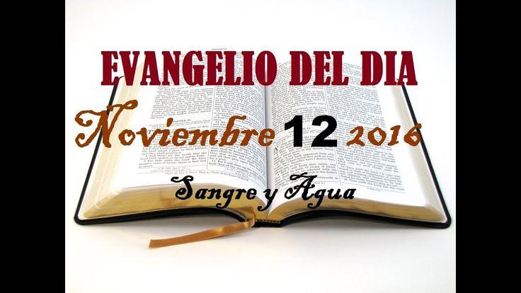 Evangelio del Dia- Sabado 12 de Noviembre 2016- Sangre y Agua