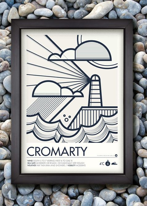 Shipping Forecast Prints by Neil Stevens, via Behance