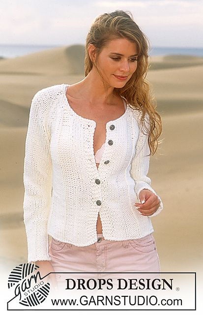 Ravelry: 87-8 Cardigan in Ice pattern by DROPS design
