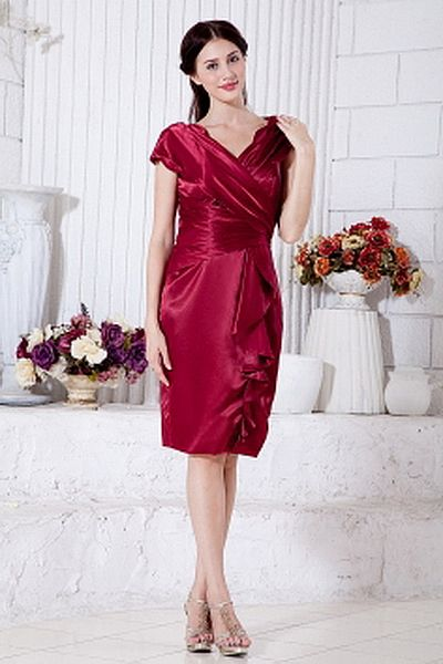Satin Elegant Mit V-Ausschnitt Homecoming Kleid ba0888 - http://www.brautmode-abendkleid.de/satin-elegant-mit-v-ausschnitt-homecoming-kleid-ba0888.html - Ausschnitt: V-Ausschnitt. Stoff: Satin. Ärmel: Ärmellos. Farbe: Rot. Silhouette: A-Line. - 183.59